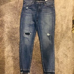 Banana Republic Deconstructed Skinny Fit Jeans